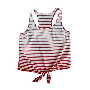 Red and White Striped Poetry Tank
